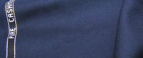 紺のベビーカシミヤ