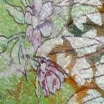 オパール加工の花柄シルクオーガンジー
