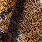糸巻柄のシルク更紗
