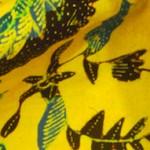 海の生物模様の綿更紗