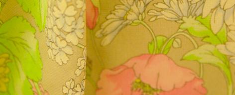 ヴァレンチノの花柄シルクシフォン