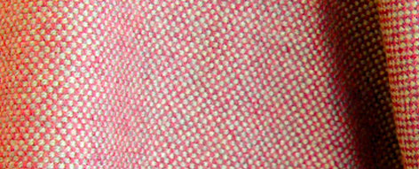 ピンクとグリーンのウールツイード